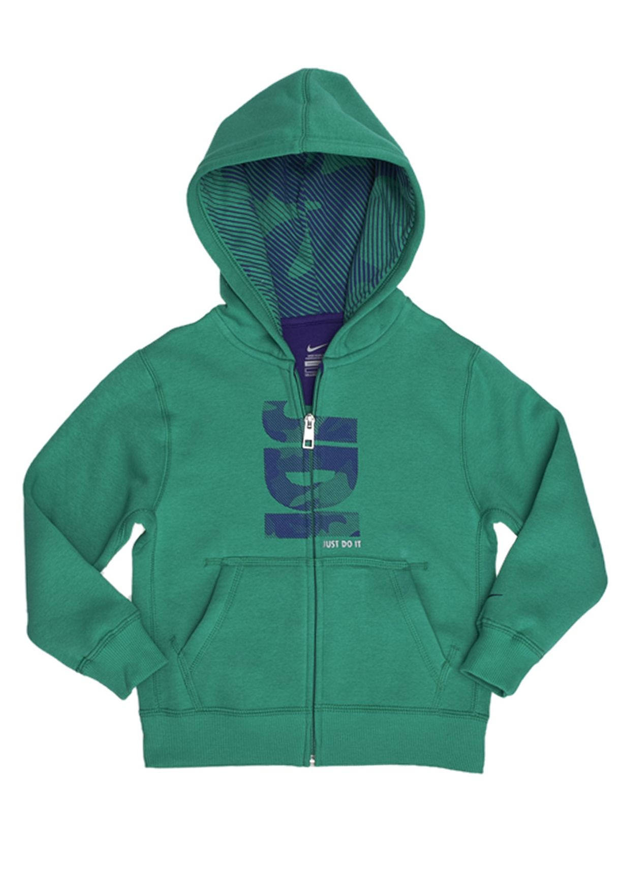 new product c3a8e 5c1d0 Shop Nike green Long Sleeve Sweatjackets NKAP506713-344 for Kids in Kuwait  - NI727AT83NKQ