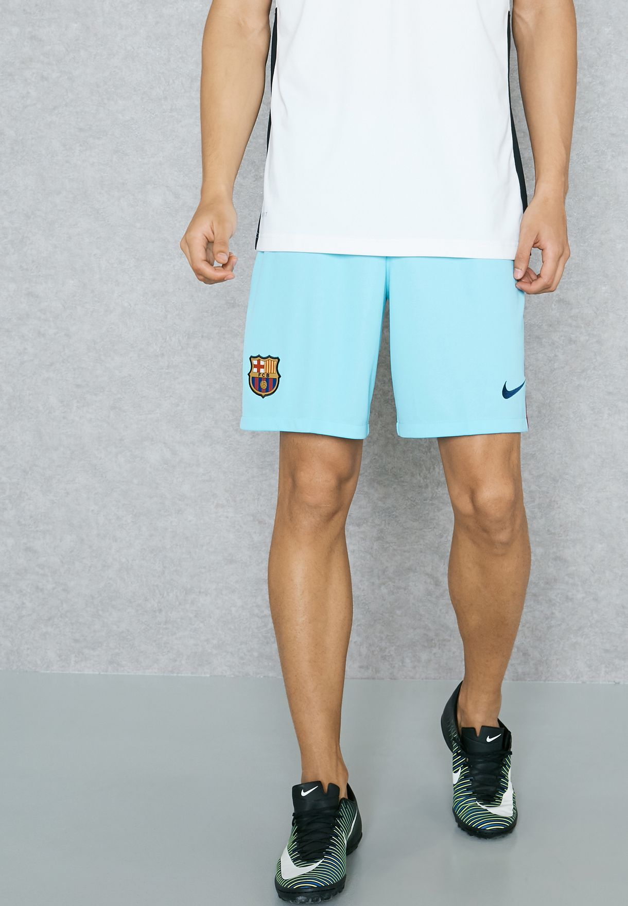 d16bea4951b4a0 Shop Nike blue FC Barcelona 17 18 Away Shorts 847257-483 for Men in UAE -  NI727AT83ELK