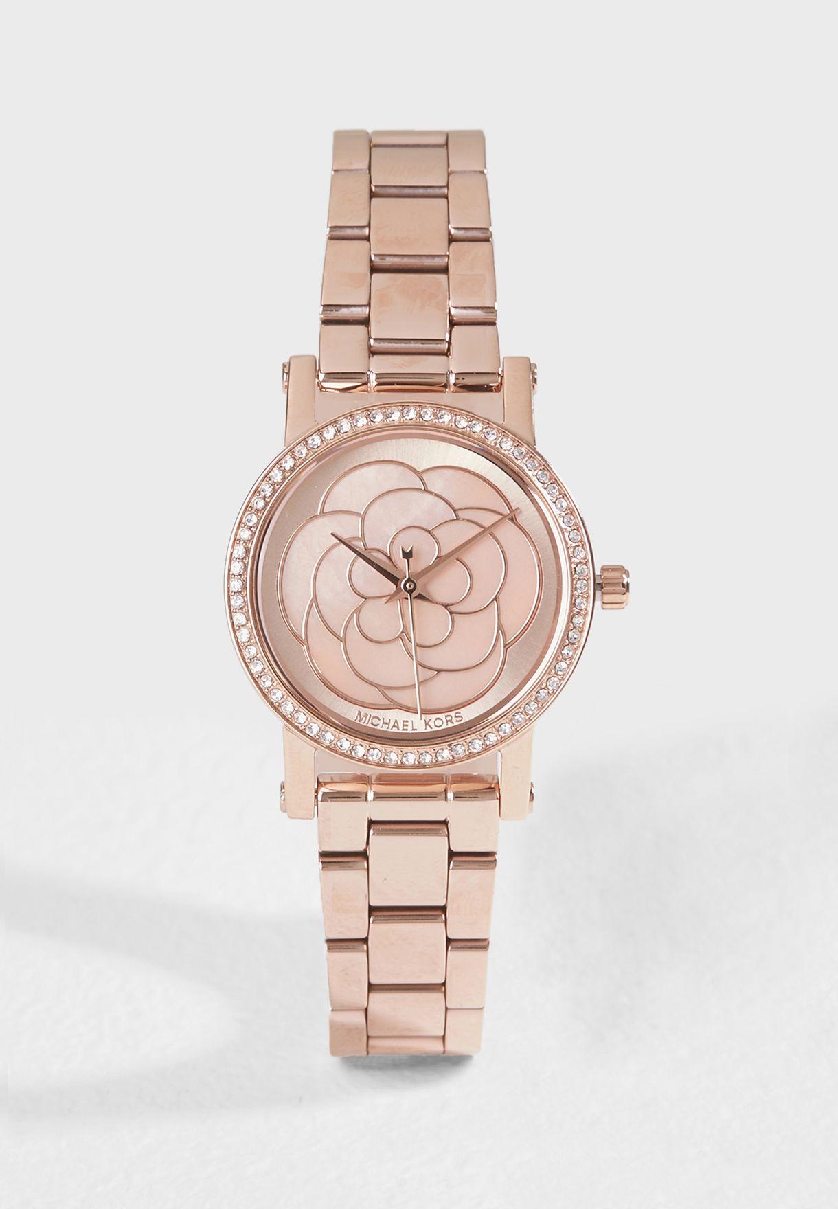 ed9d739ba30b Shop Michael Kors gold Norie Analog Watch MK3892 for Women in UAE ...