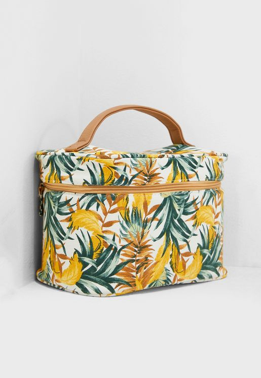 Large Printed Cosmetic Bag