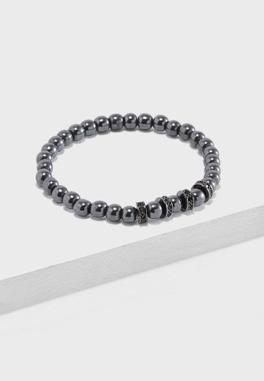 Crown Detail Beaded Bracelet