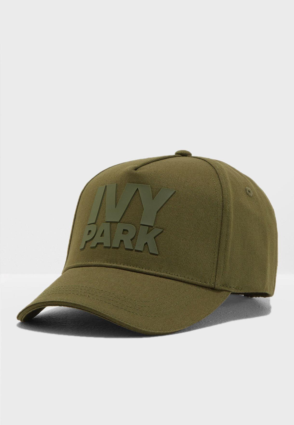 f4b2d42e24819 Shop Ivy Park green Silicon Logo Baseball Cap 29A01PDGN for Women in ...