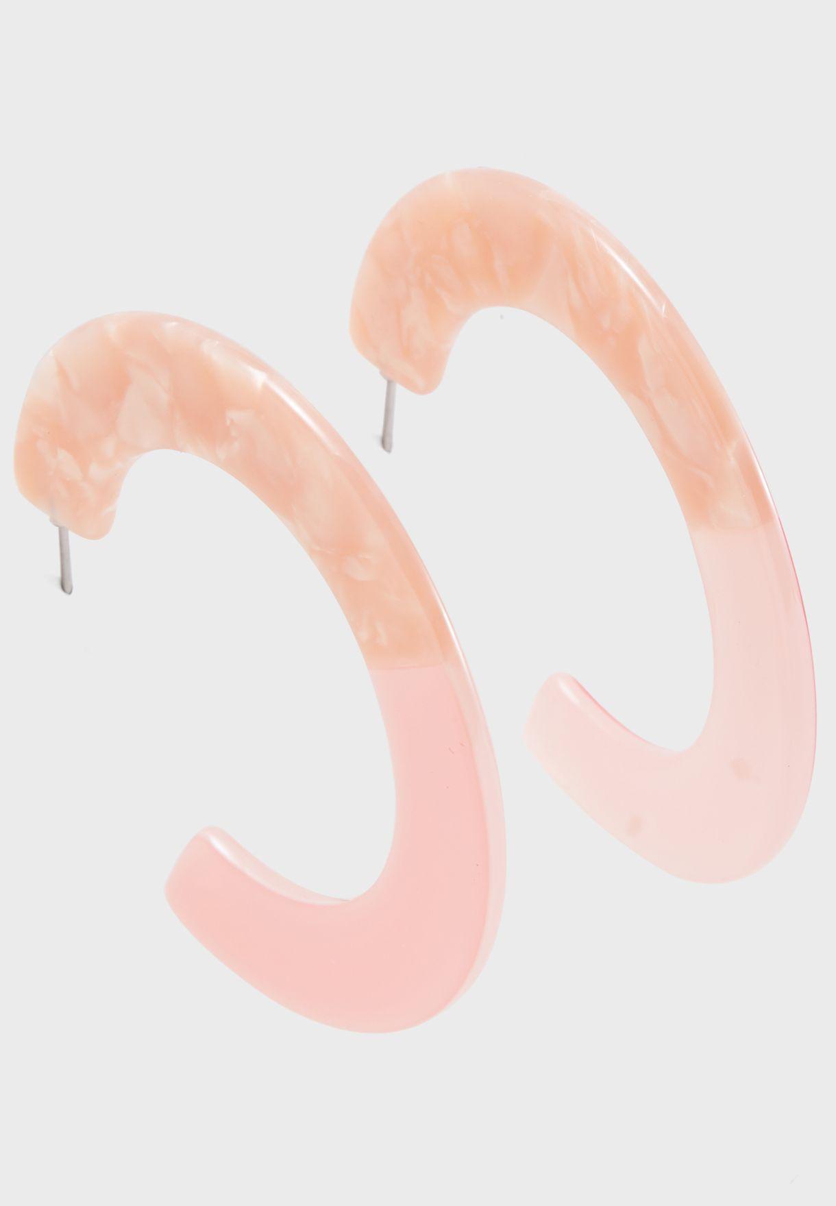Resin Flat Statement Earrings