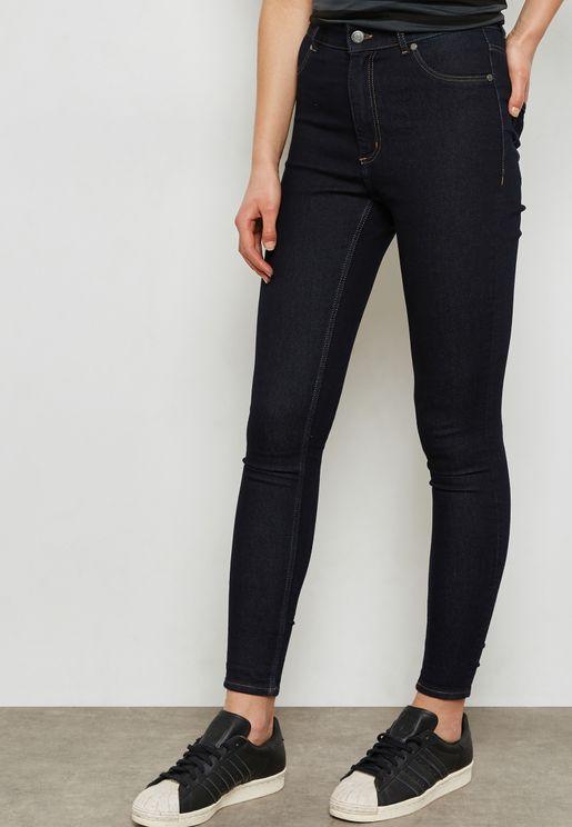 High Spray High Waist Skinny Jeans