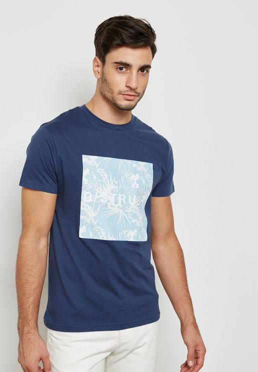 Tropically Printed Logo T-Shirt