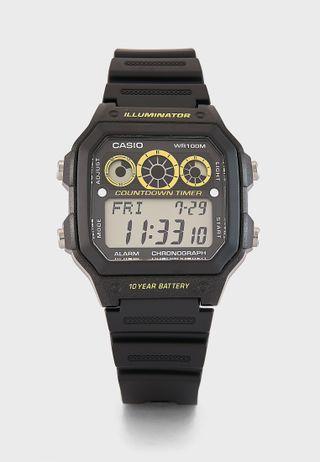 Shop Armani Exchange black AX7101 Watch + Bracelet Set for Men in ... af7ed13cfc