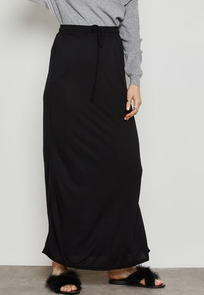 Overlap Maxi Skirt