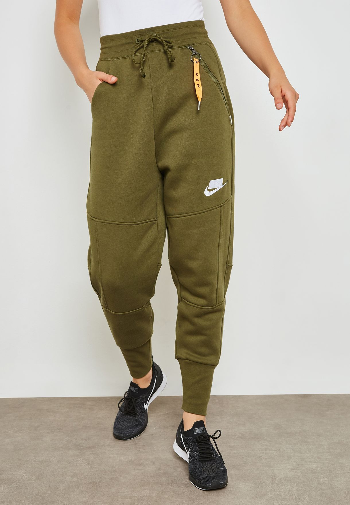 30bf6f22d793 Shop Nike green NSW Fleece Sweatpants AH4005-395 for Women in UAE ...