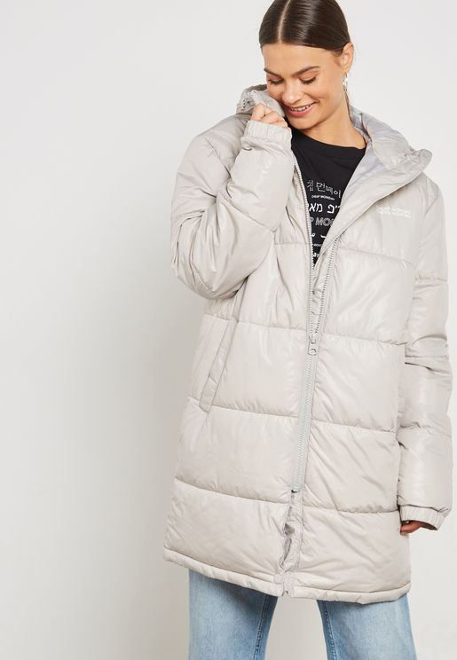 Quilted Longline Puffer Jacket