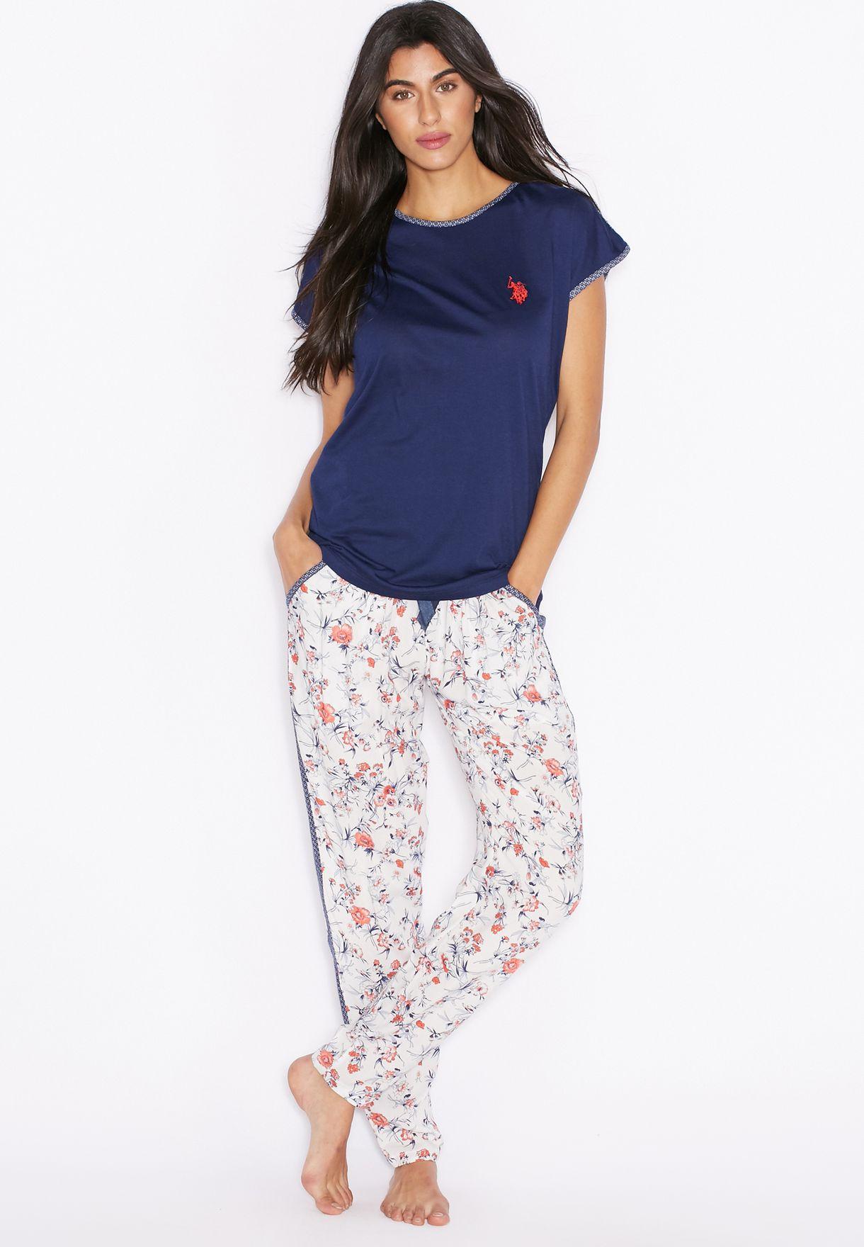 42cc5c7b1d387 Shop Us polo assn navy Printed Pyjama Set for Women in UAE ...