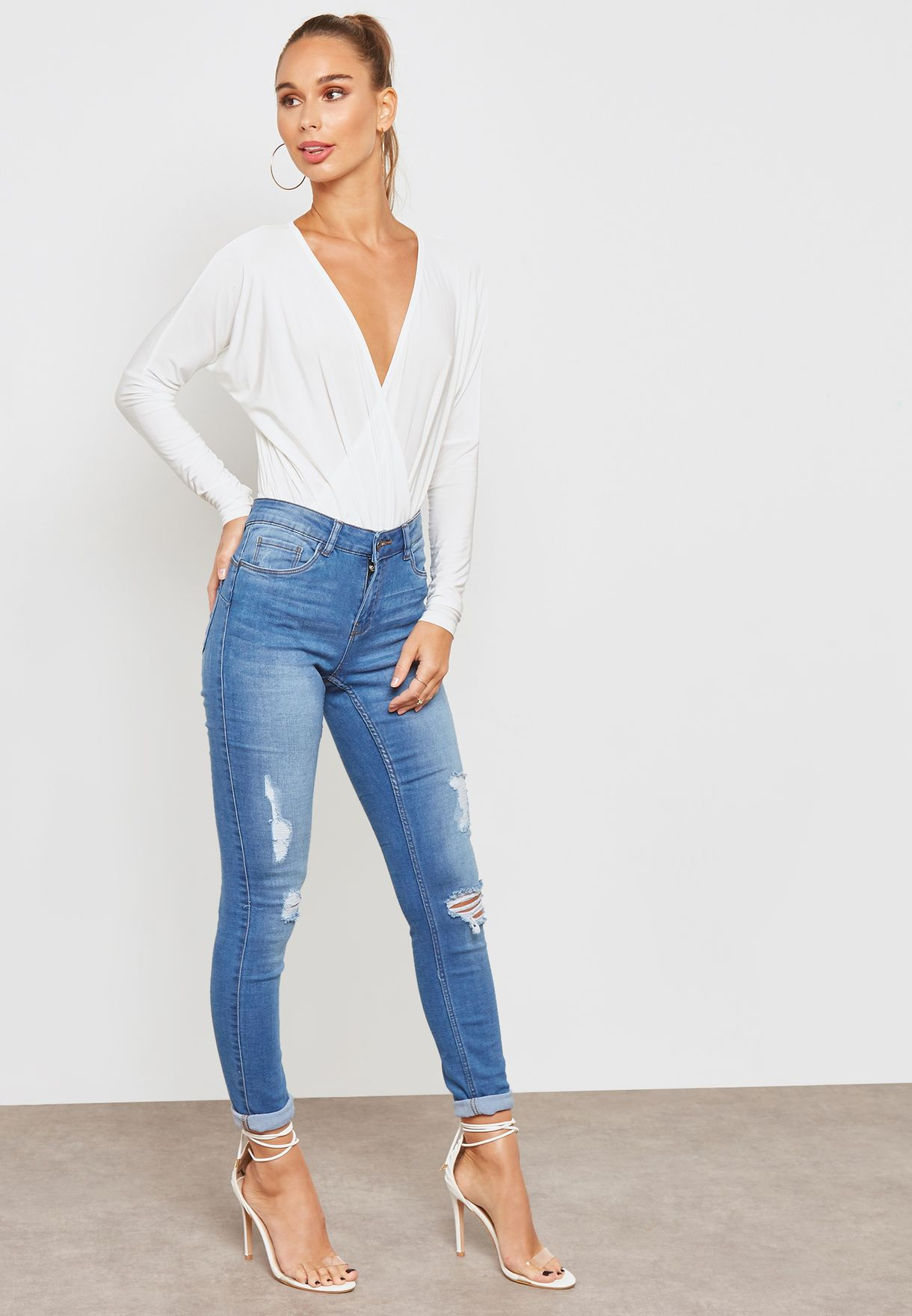 V-Neck Long Sleeve Body