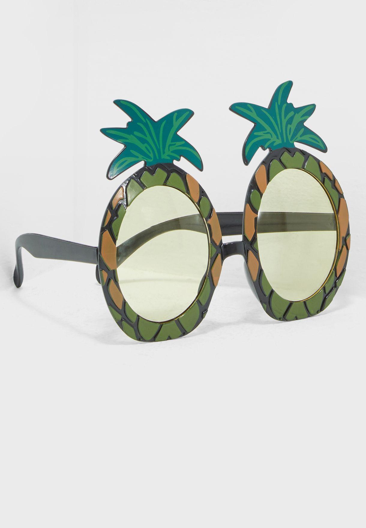 5b4ca24841 Shop Talking Tables multicolor Carnival Fiesta Pineapple Sunglasses ...