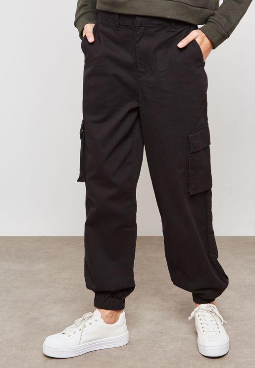 Pocket Detail Cuffed Sweatpants