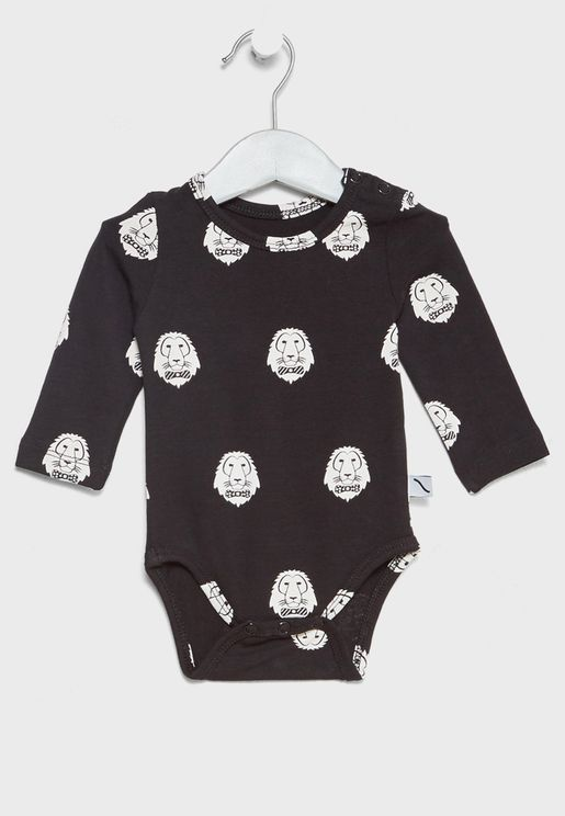 Infant Lion Print Bodysuit