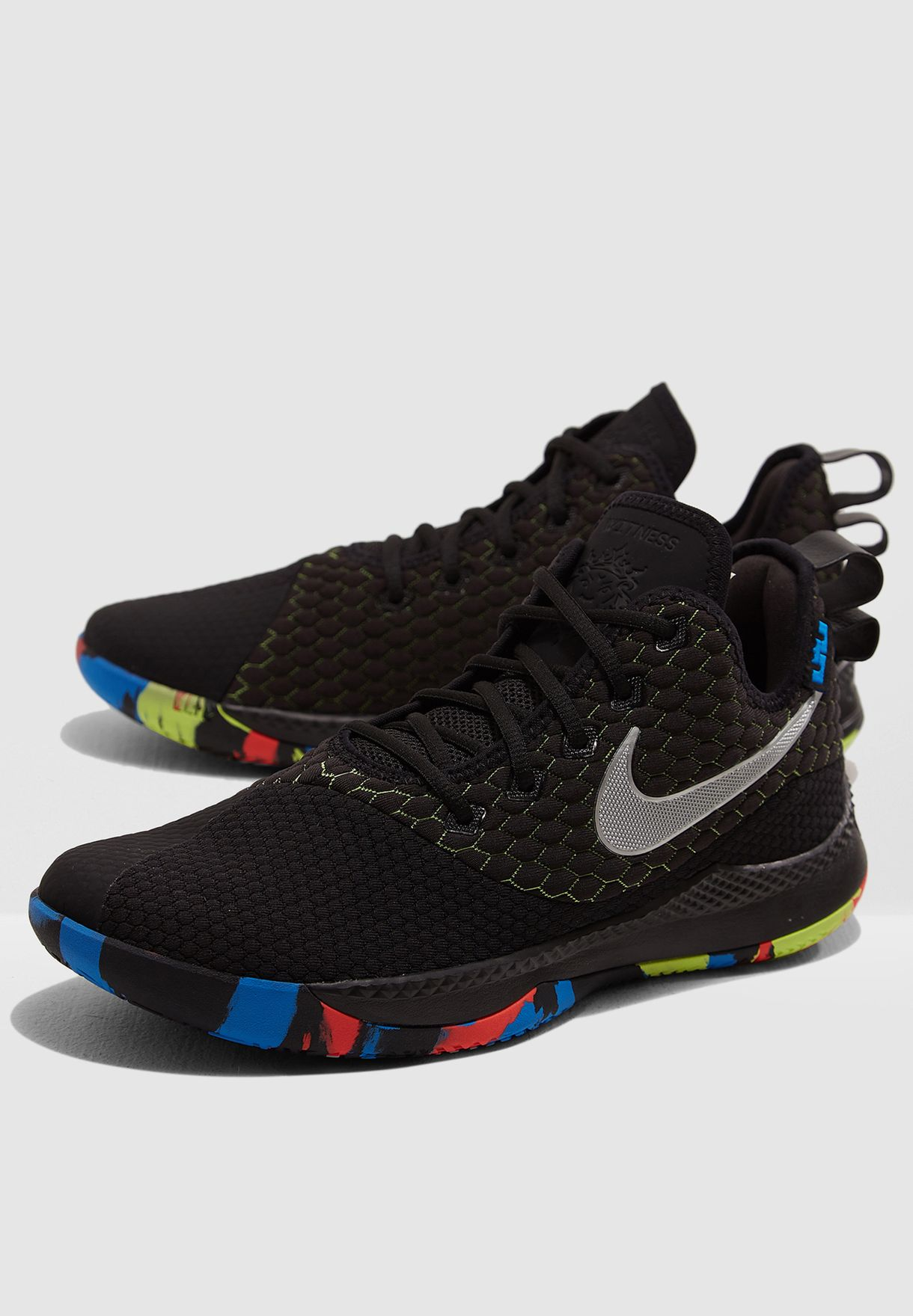 b8c09fc0bf7d Shop Nike black Lebron Witness III AO4433-009 for Men in UAE ...