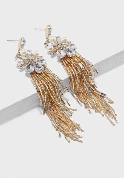 Rb Pearl & Teardrop Earrings