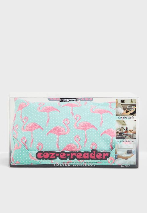 Flamingo Print Tablet Cushion