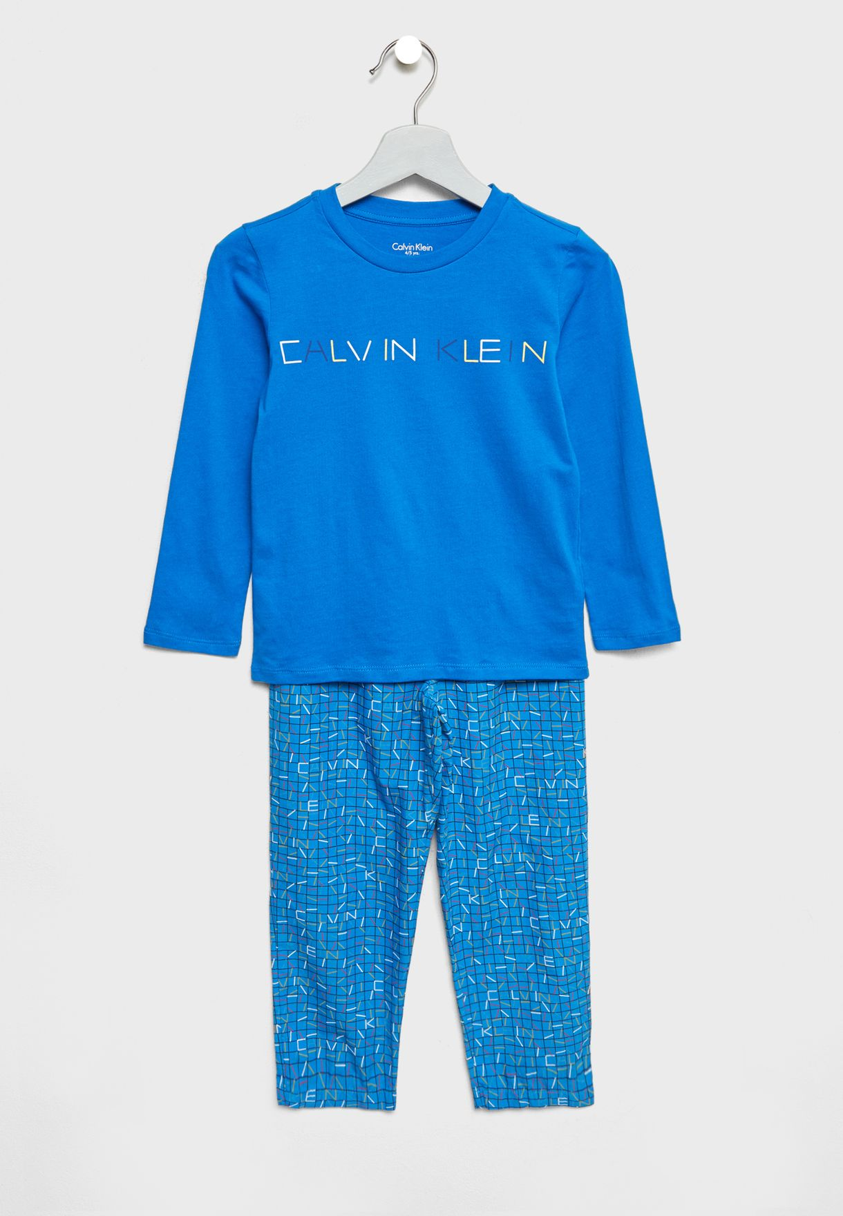 ea0f882a8 Shop Calvin Klein blue Teen T-Shirt + Pyjamas Set B70B700141 for ...