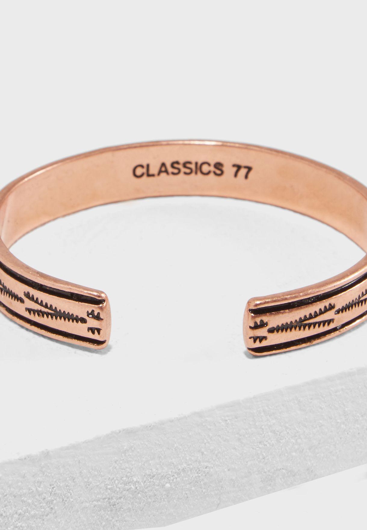 Aztec Engraved Cuff Bracelet