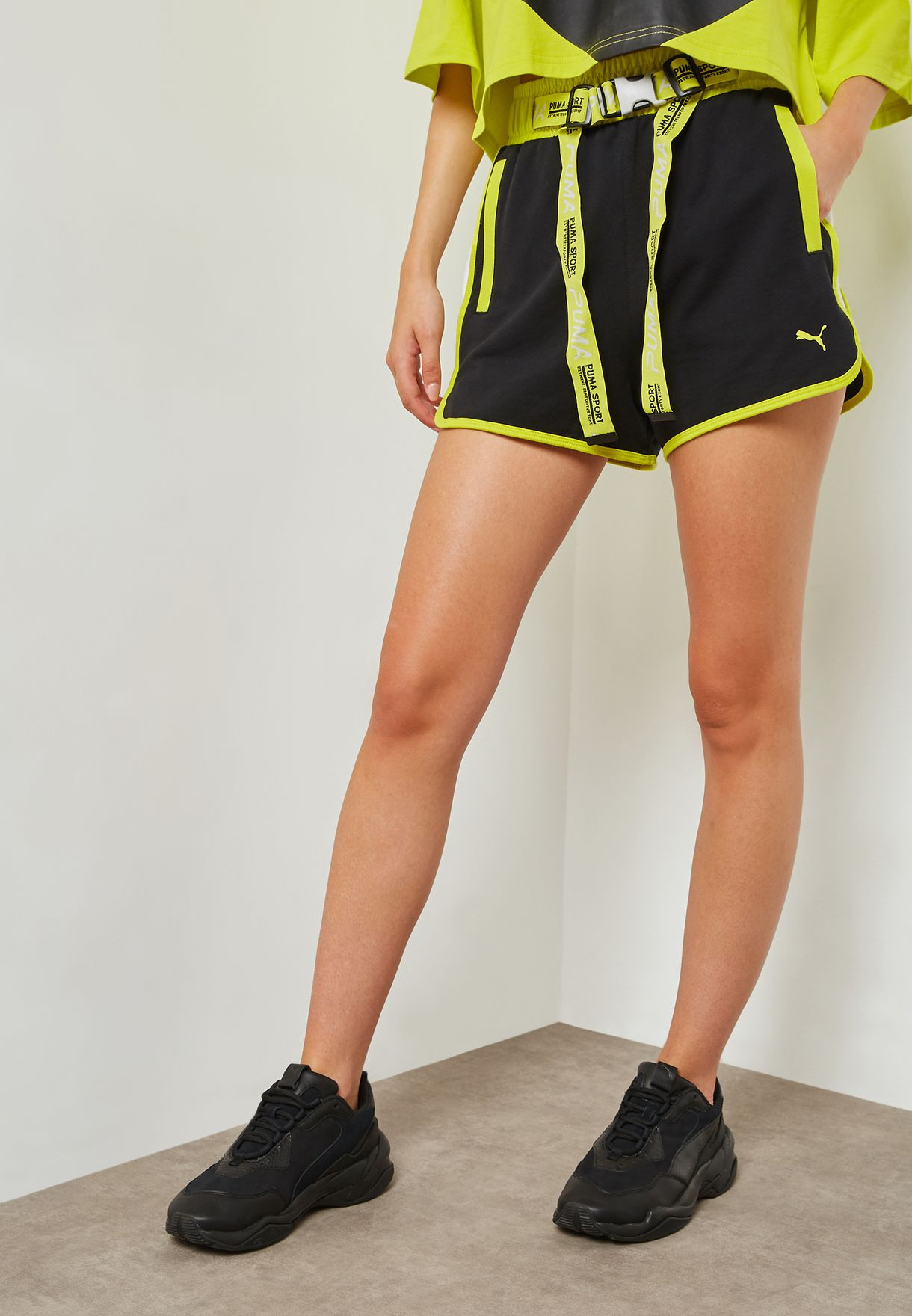 capitale Bollire Incasinato  Buy PUMA multicolor Xtreme Tape Highwaist Shorts for Women in MENA,  Worldwide | 57738301