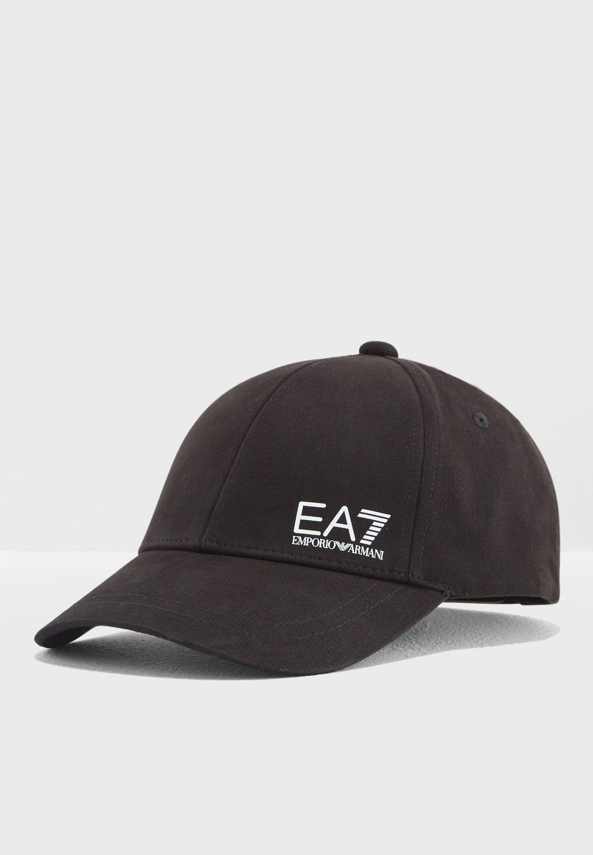 93724a31d3bf7 Shop Ea7 Emporio Armani black Logo Hat 8A816-275692-121 for Men in ...