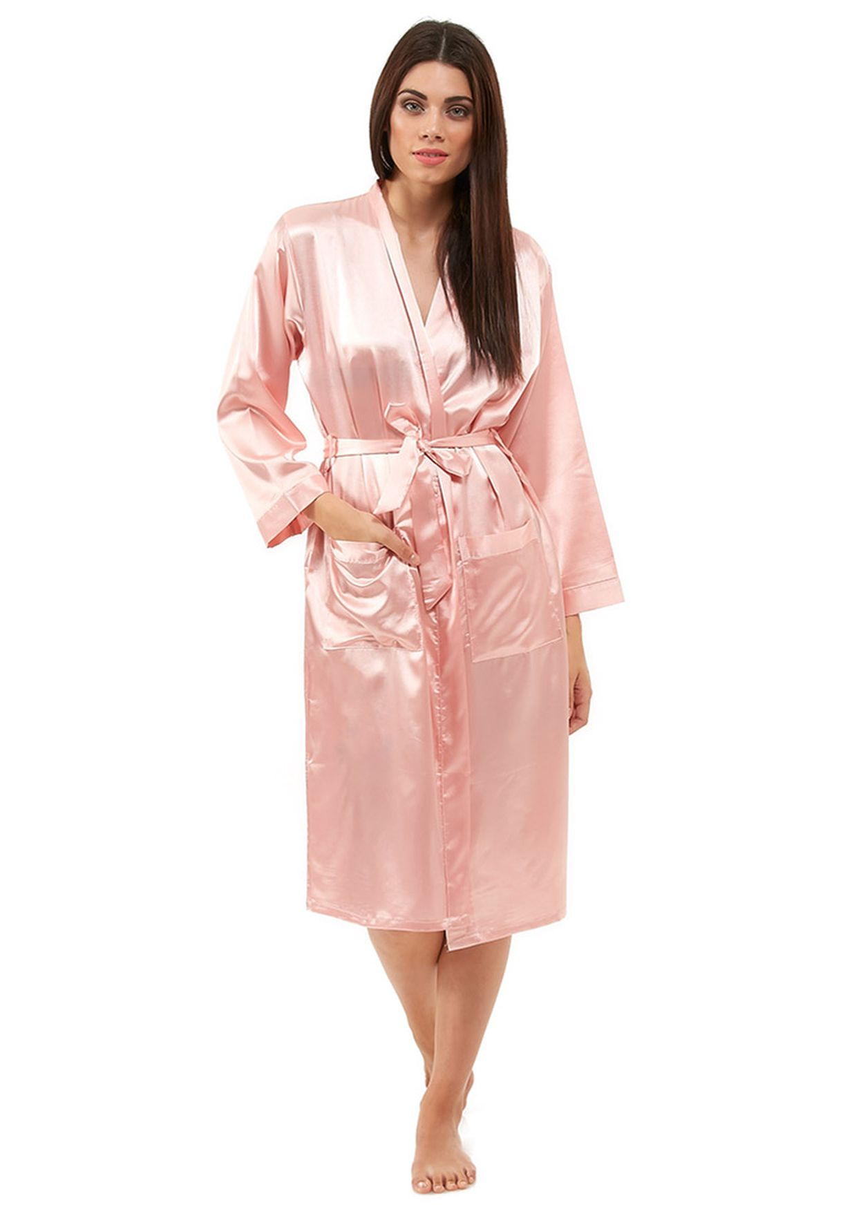 Buy Pink Satin Bathrobe For Women In Muscat Other Cities