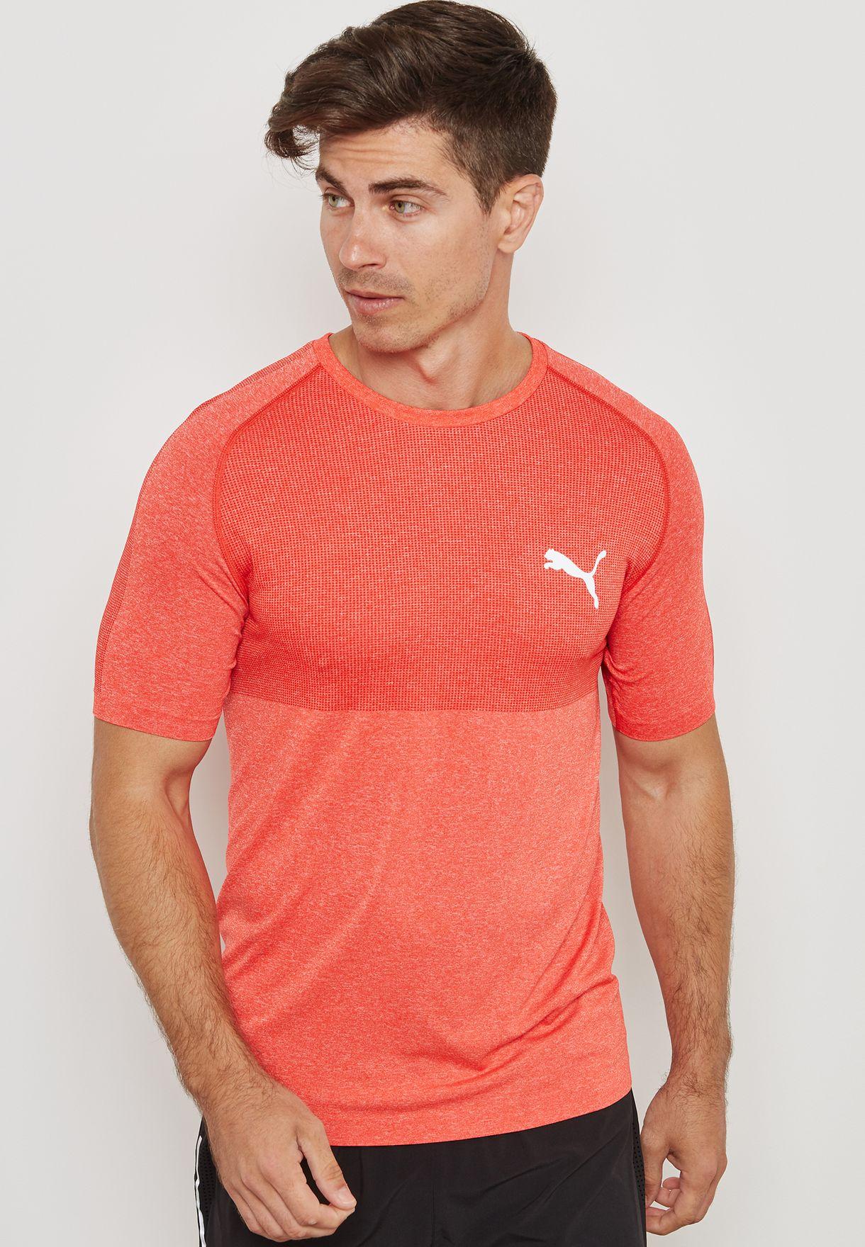 a28bf2007d0 Shop PUMA orange evoKNIT T-Shirt 59509242 for Men in Saudi ...