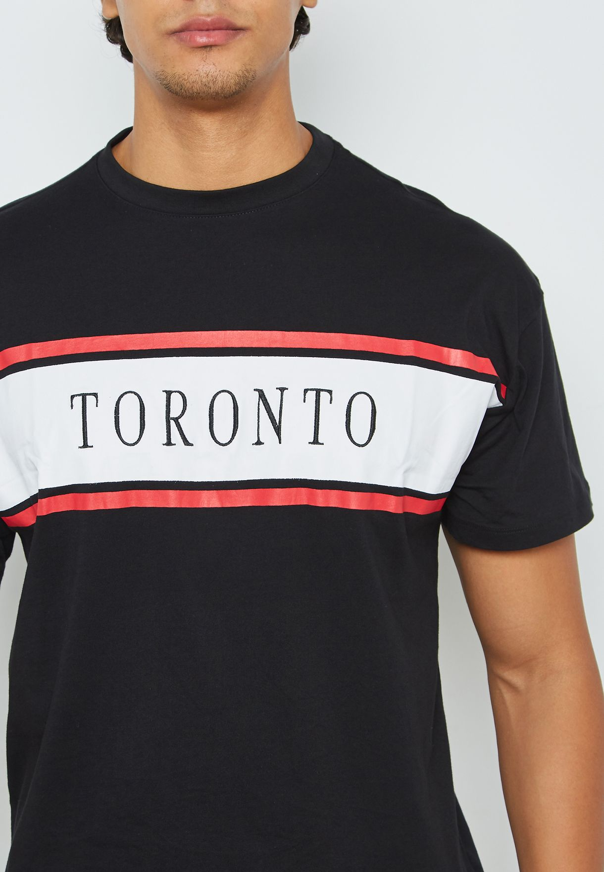 Toronto Embroidered Crew Neck T-Shirt