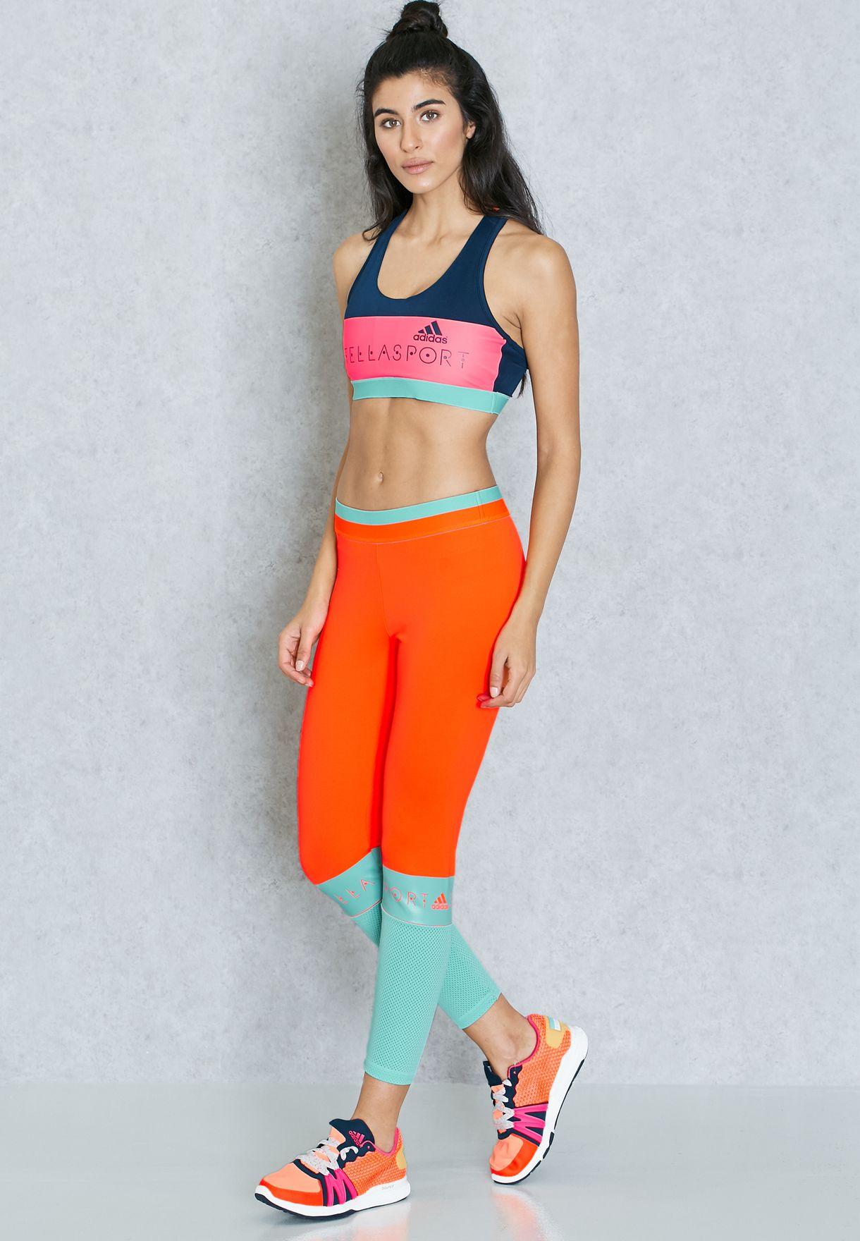794e9775a2f241 Shop adidas Stellasport multicolor Mesh Leggings AP7273 for Women in ...
