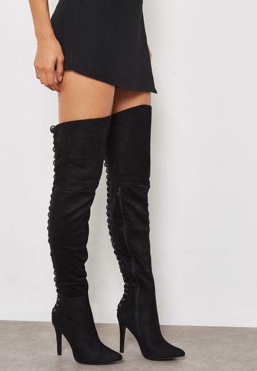 Faye Casual Knee Boot