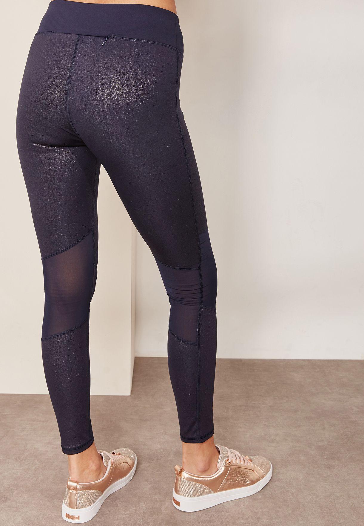 8cc230f69 Shop Ted baker multicolor Metallic Mesh Leggings 144548 for Women in ...