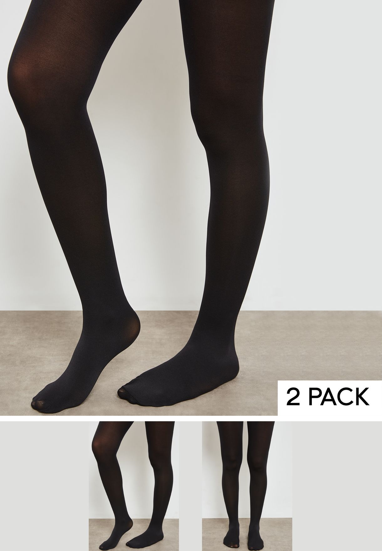 a96df87ac Shop Topshop black 2 Pack Tights 08Q05MBLK for Women in Qatar ...