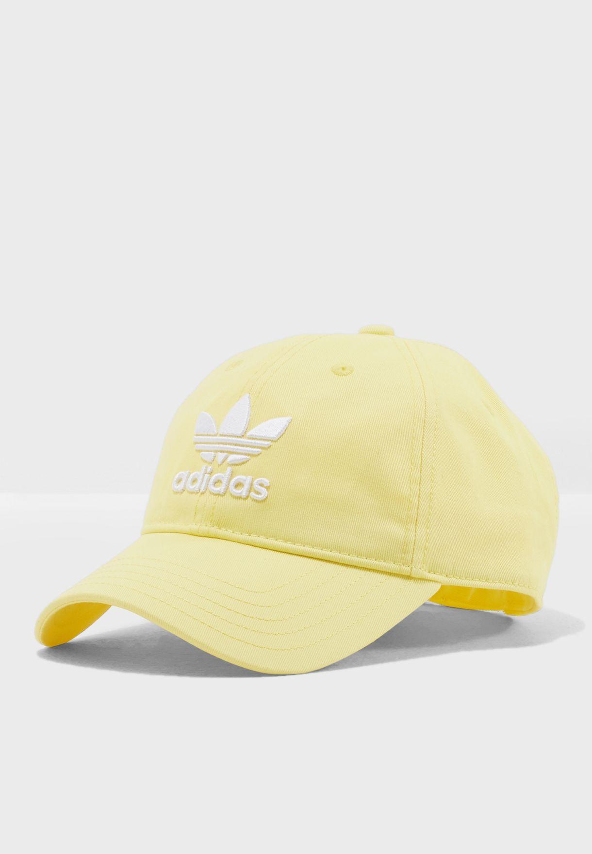 bf874800 Shop adidas Originals yellow adicolor Trefoil Cap CD6974 for Women ...
