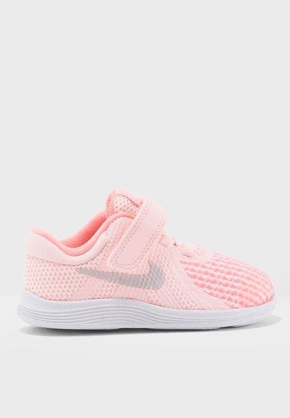 Shop Nike pink Revolution 4 Infant 943308-600 for Kids in UAE - NI727SH73ZKW