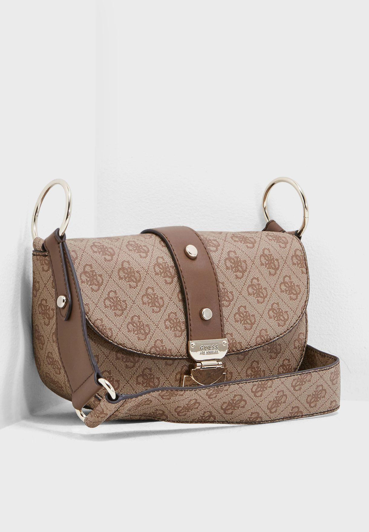 ff1772622d7b Shop Guess browns Florence Crossbody SG699118BRO for Women in Oman -  GU094AC73WWK