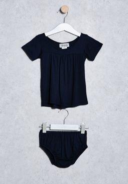 طقم (فستان + سروال)