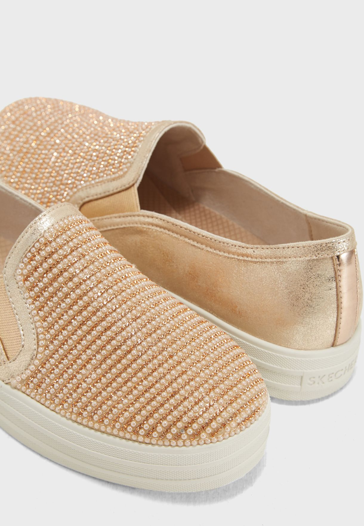 0d4ba103f0d Shop Skechers gold Double Up - Shiny Dancer 801-RSGD for Women in ...