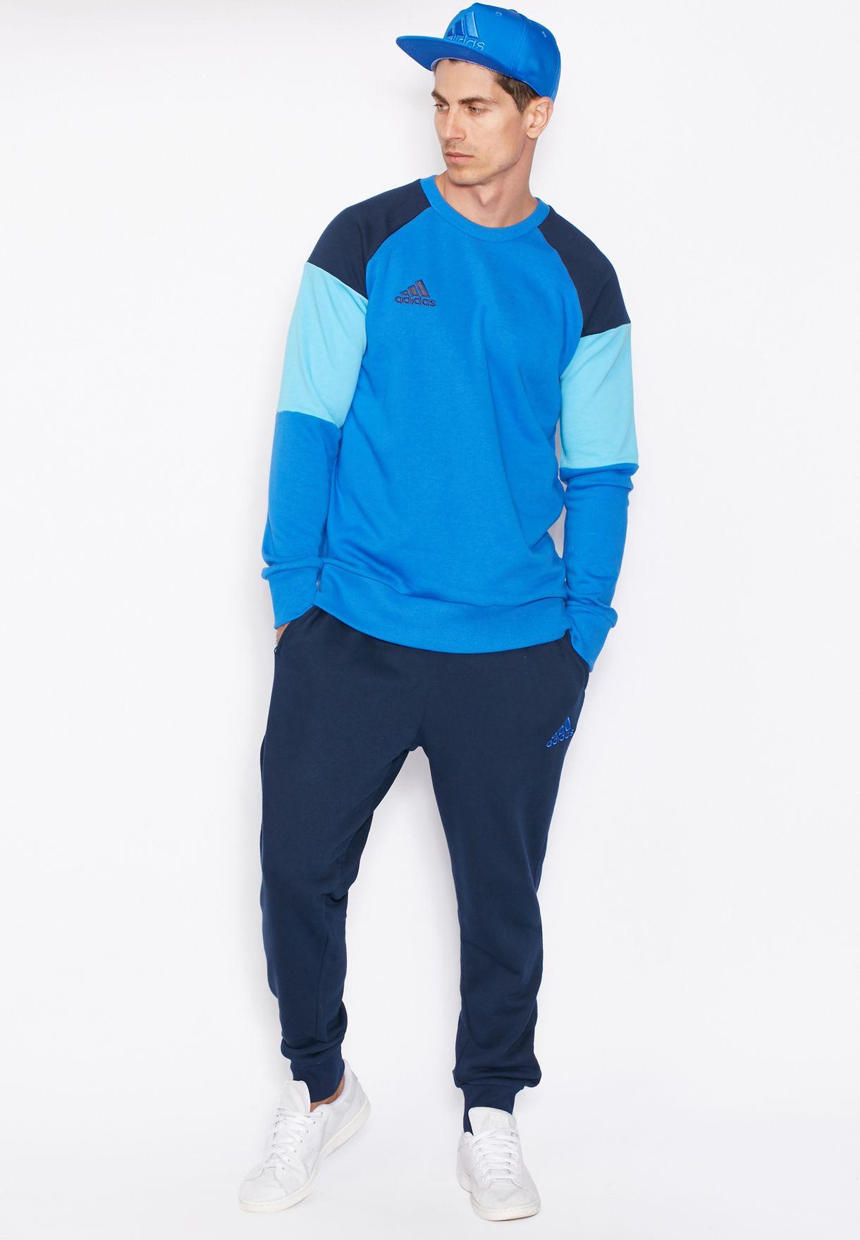 Buy Adidas Blue Condivo 16 Sweatshirt For Men In Mena Worldwide Ac4300 [ 1760 x 1220 Pixel ]
