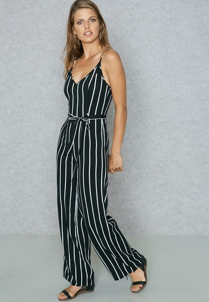 13700a22661 Shop Forever 21 black Striped Jumpsuit 95088 for Women in UAE free shipping