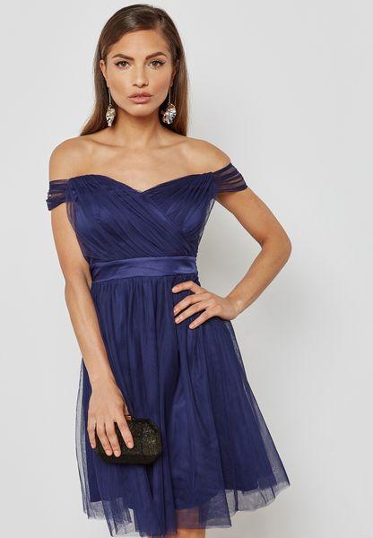 Bardot Prom Dress