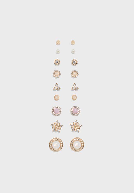 Assorted Stud Earrings Set