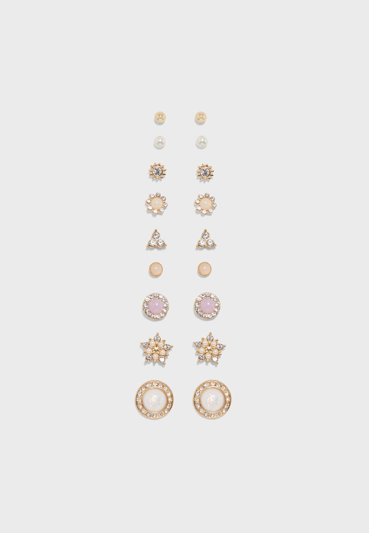 cd75eef2d Shop Forever 21 gold Assorted Stud Earrings Set 305887 for Women in ...