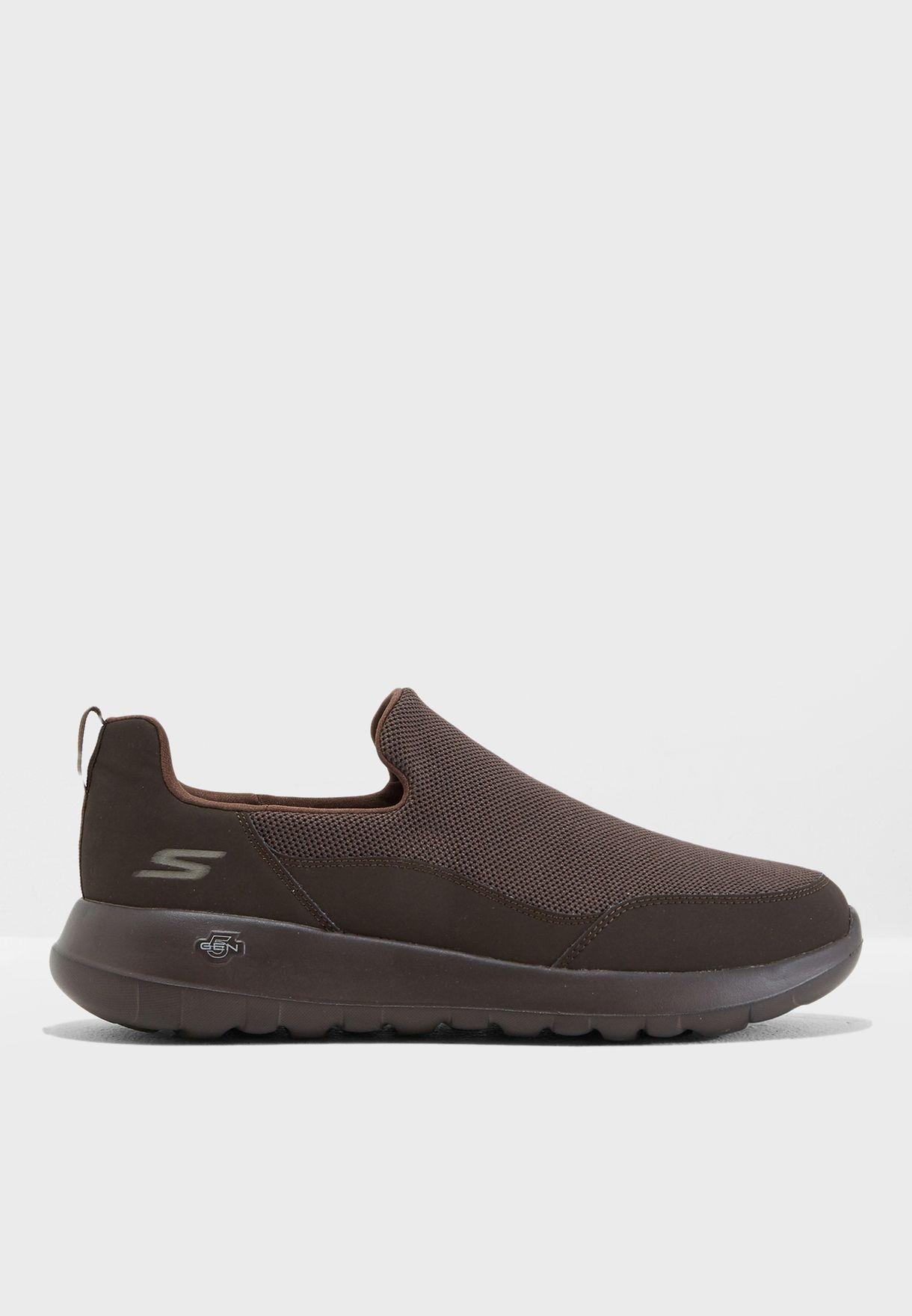 93471ac6632e Shop Skechers browns Go Walk Max 54626-CHOC for Men in UAE ...