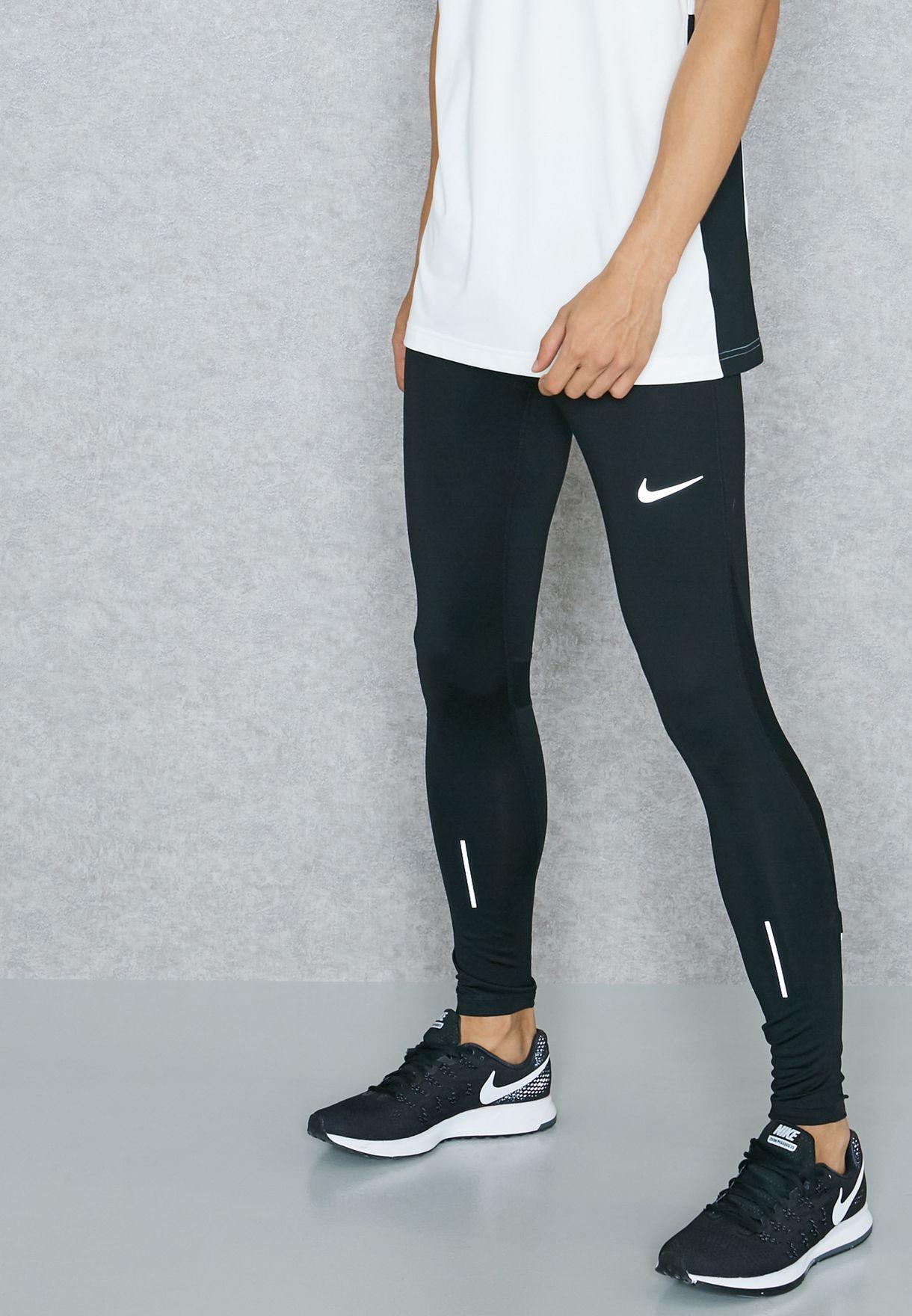 b9d291ffdf0 Shop Nike black Essential Power Tights 856886-010 for Men in Oman ...