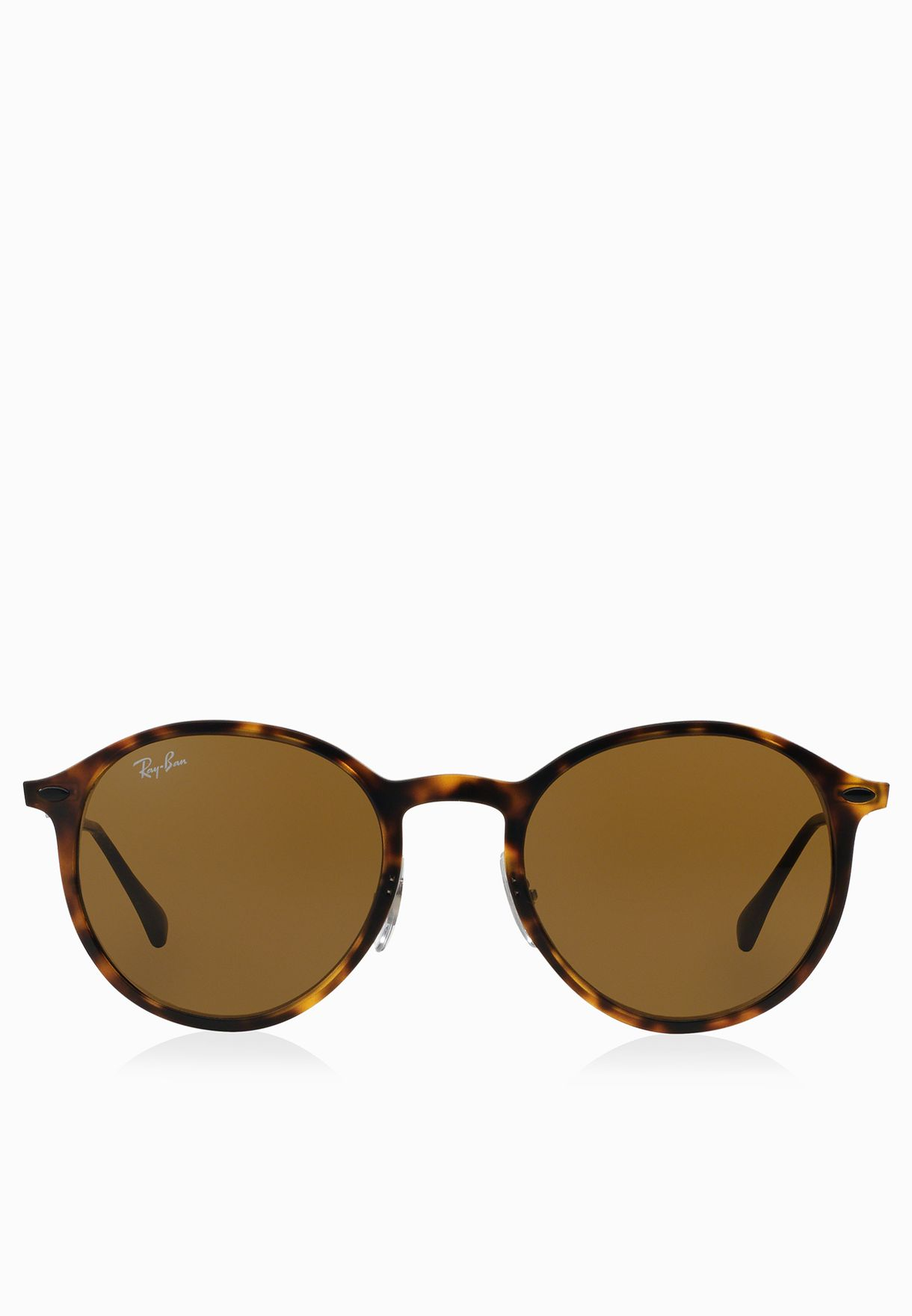 f70599d137c8e Shop Ray-Ban browns Tech Light Ray Round Sunglasses 8053672441208 ...
