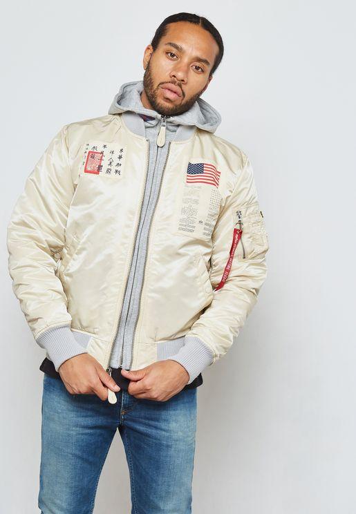 MA-1 D-Tec Badged Hooded Jacket