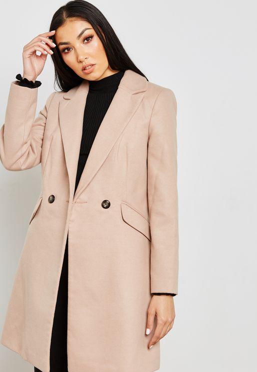 Longline Crombie Coat