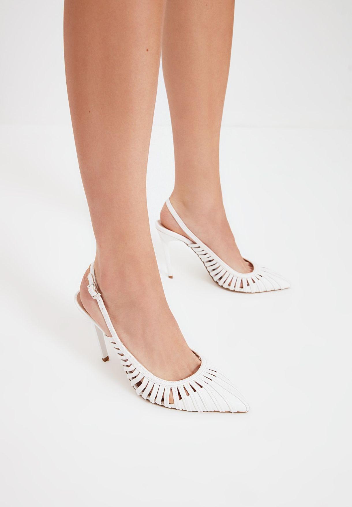 حذاء كعب عالي بسيور