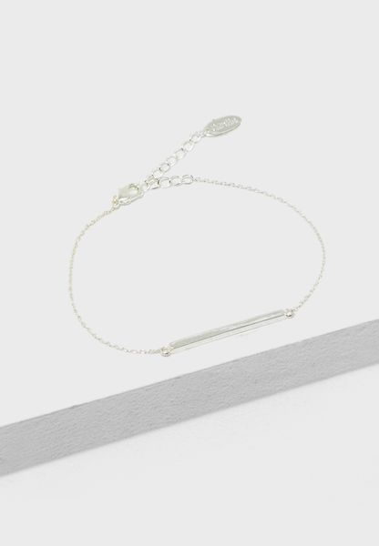 Horizontal Bar Chain Bracelet