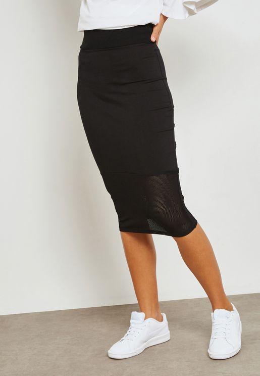 Mesh Hem Skirt